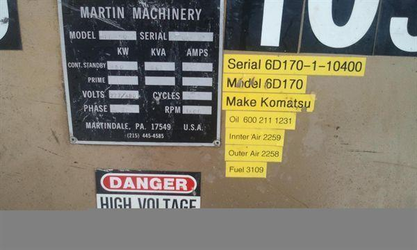 MARTIN MACHINERY 450 KW