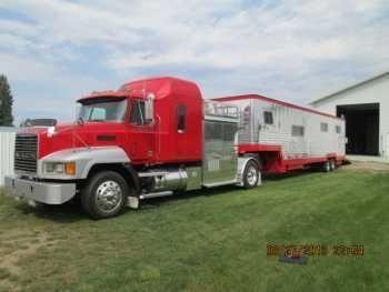 Custom Mack CH613 RV With Hauler Trailer